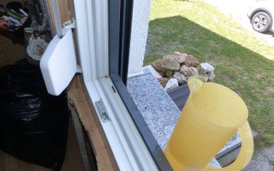 Falscher Einbau von Fensterbänke