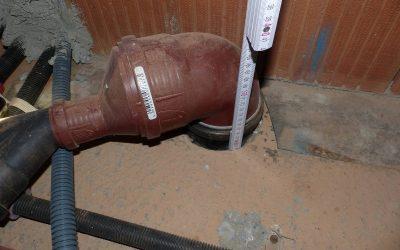 Abdichtungen Bodenplatte samt Rohrdurchführungen