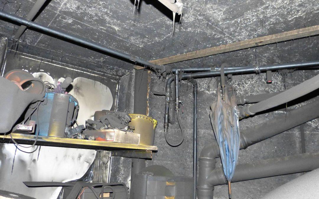 Feuerschaden in einem Einfamilienhaus