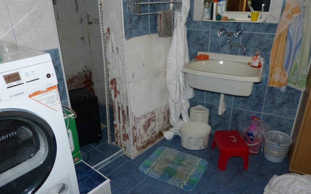 Fehlende Abdichtung Dusche